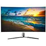 HKC NB32C-DH 31,5 Zoll Curved 1800R LED Breitbild-Bildschirm (1920x1080, 5mS, HDMI, DVI, VGA Ports), Weiß