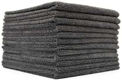 (12-Pack) 16 in. x 16 in. Commercial Grade All-Purpose Microfiber Highly Absorbent, LINT-Free, Streak-Free Cleaning Towels – THE RAG COMPANY (Grey)