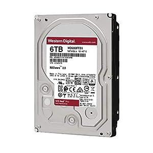 """WD Red Pro 6TB NAS Internal Hard Drive - 7200 RPM Class, SATA 6 Gb/s, CMR, 256 MB Cache, 3.5"""" - WD6003FFBX"""