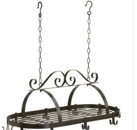 SKB Family Hanging Pot Holder Accent wrought iron hooks kitchen by SKB family