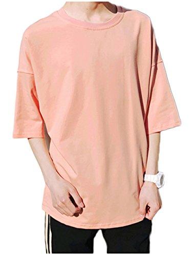 [ワン アンブ] カジュアル Tシャツ ビッグシルエット クルーネック 丸首 M ~ L メンズ