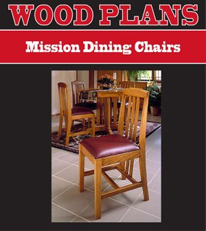 MISSION DINING CHAIR WOODWORKING PAPER PLAN PW10049
