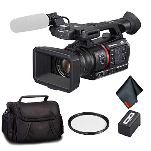 Panasonic AG-CX350 4K Camcorder - Bundle Kit with UV Filter + Carrying Case and More ()