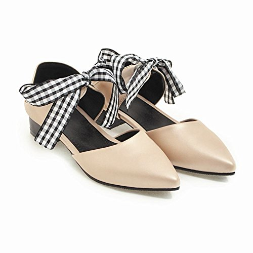 Mee Shoes Women's Sweet Pointed Toe Court Shoes Gold QoBpWbdR9