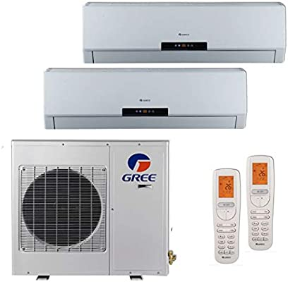 Gree MULTI18BNEO201-18,000 BTU +Multi Dual-Zone Wall Mount Mini Split Air  Conditioner Heat Pump 208-230V (9-12)