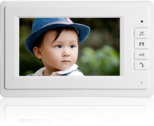 Topwill Wired Video Intercom Doorbell Home Security Systems  1  Camera 1  Monitor Video Door Phone Bell Kits  Support Monitoring  Unlock  Dual Way Door Intercom  Ir Night Vision