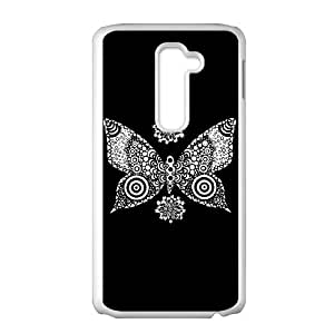 LG G2 Cell Phone Case White butterfly Gwjee