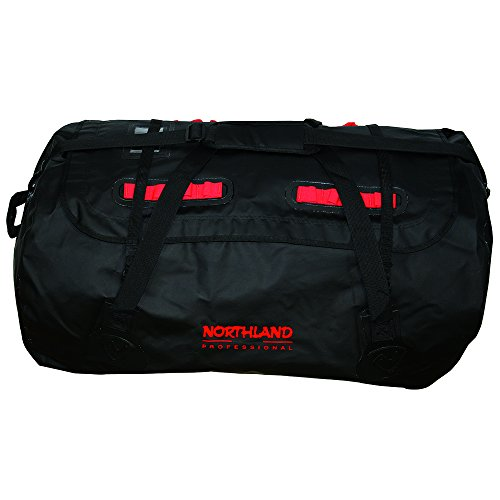 Northland Professional, Borsone impermeabile Aquatic Basic, Nero (Black/Red), 74 x 55 x 42 cm, 120 litri