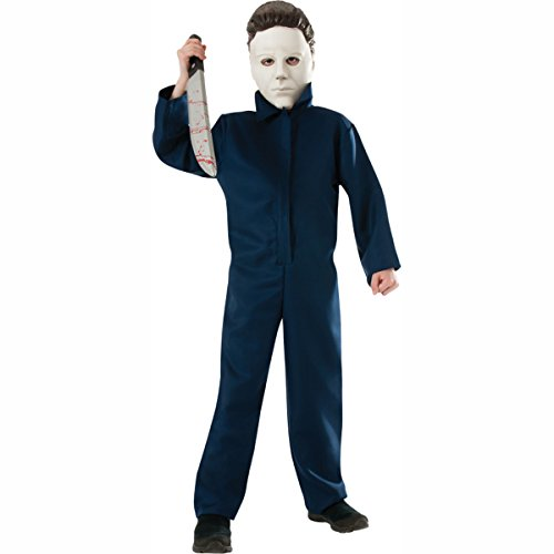 [Halloween Classic Michael Myers Child Costume with Mask Rubies Size Large (12-14)] (China Boy Costume)