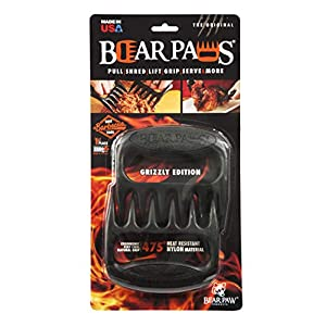 The Original Bear Paws Shredder Claws – Easily Lift, Handle, Shred, and Cut Meats – Essential for BBQ Pros – Ultra-Sharp…