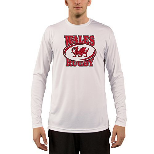 Wales Rugby Men's UPF Performance T-shirt XX-Large White