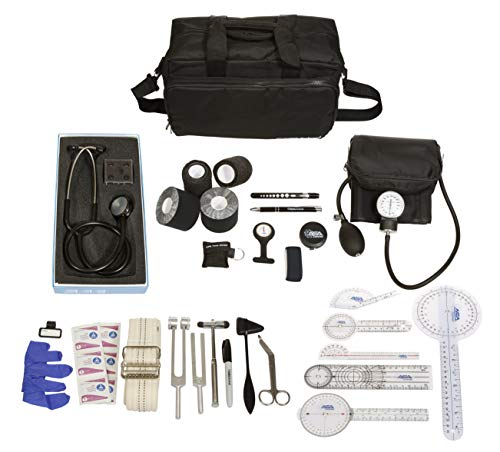 Physical Therapy Home Health Aide Kit with Home Health Call Bag - for Nurses, Home Health Aides, Physical Therapy, Patient Care (Black)