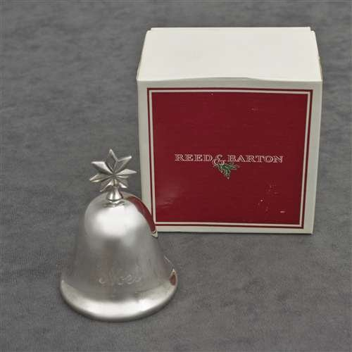 Barton Silverplate Bell - Reed & Barton 1981 Noel Music Bell Silverplate Ornament by