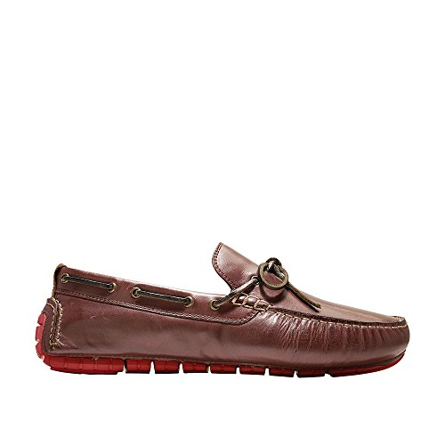 Cole Haan Mens Zerogrand Camp Moc Driver Di Guida Stile Mocassino Rum Raisin / Aura Arancione