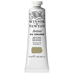 Winsor & Newton Artists Oil Color Paint Tube, 37ml, Davy's Gray