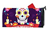 KSLIDS Attractive Mailbox Makeover Deads' Day Background With Skull And Decorative Candles Mailbox Makover Cover Garden,Home,Yard Magnetic