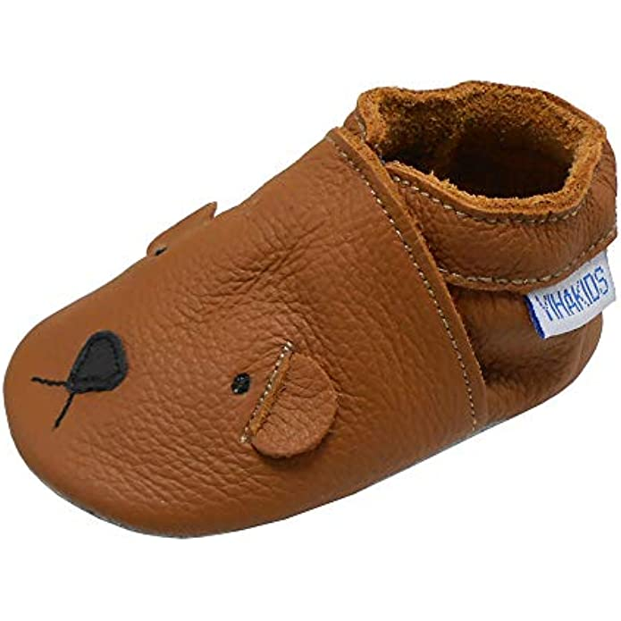 YIHAKIDS Baby Leather Shoes First Walking Moccasins Infants Toddler Soft Sole Cute Boys Girls Crawling Slippers