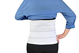 Abdominal Binder Support Post-Operative, Post Pregnancy And Abdominal Injuries. Post-Surgical Abdominal Binder Comfort Belly Binder (Small (30\