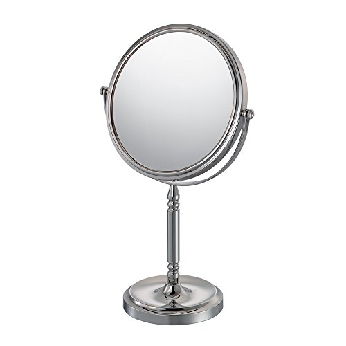 Mirror Image 86640 Recessed Base Vanity Mirror, 1X and 10X Magnification, Chrome by Mirror Image