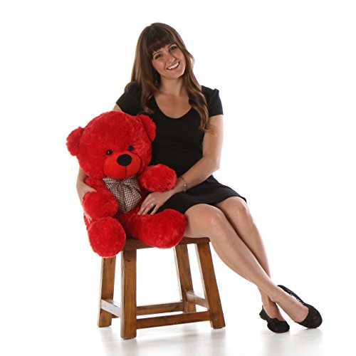 "Bitsy Cuddles - 30"" - Super Soft & Huggable, Giant Teddy red"