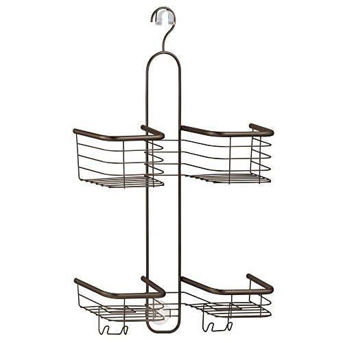 InterDesign Forma Shower Caddy with Storage Baskets for Bathroom Showers with Hand Held Hoses – Bronze - Bronze Shower Caddies