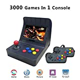 BAORUITENG Retro Game Console ,Classic Retro Video Game Player Portable Game Console 16GB 4.3' Full View TFT Screen 3000 Classic Games (Black)