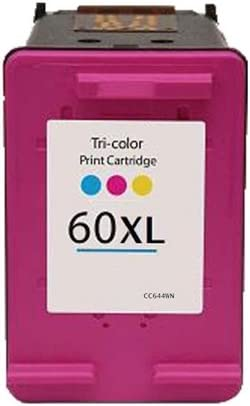 Bulk: RCC644XL D1663 D2530 etc; Multi Color Ink Myriad Re-Manufactured Inkjet Cartridges Replacement for HP CC644WN 60xl Color; Models: Deskjet D1660 8 Inkjet Cartridges