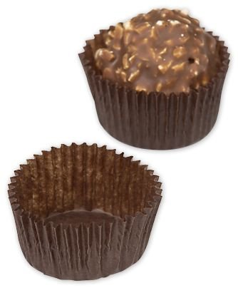 (Brown Glassine Candy Cups, 1 x 3/4