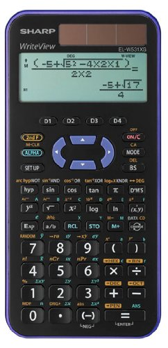 EL-W531 XG-VL wissenschaftlicher Schulrechner, WriteView-Anzeige, Farbe violett-metallic, SEK I&II, 335 Funktionen, TWIN-Power