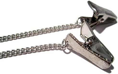 ATLanyards Simple Silver Chain Glasses Holder with Clip Grips, Alligator Clip Eyeglass Chain