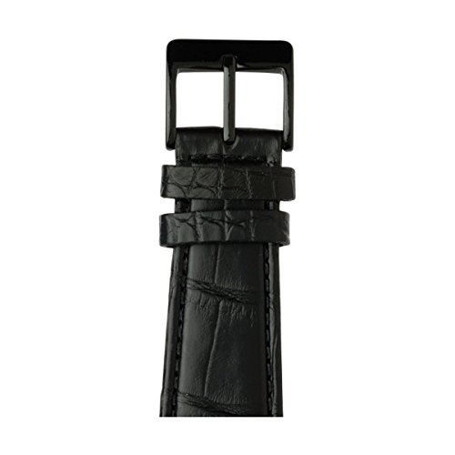 Roobaya | Premium Alligator Leather Apple Watch Band in Black | Includes Adapters matching the Color of the Apple Watch, Case Color:Space Black Stainless Steel, Size:42 mm by Roobaya