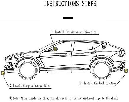 トヨタFJクルーザーと互換性通気性の良いフルカーカバー、ヘビーデューティスクラッチ証拠耐久カーカバー、防水雨防塵自動車屋内屋外 (Color : Black)