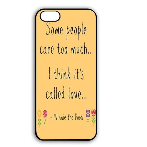 Coque,Custom Charming Winnie the Pooh Bear Quotes Plastic Hard Case Covers for Coque iphone 7 4.7 pouce
