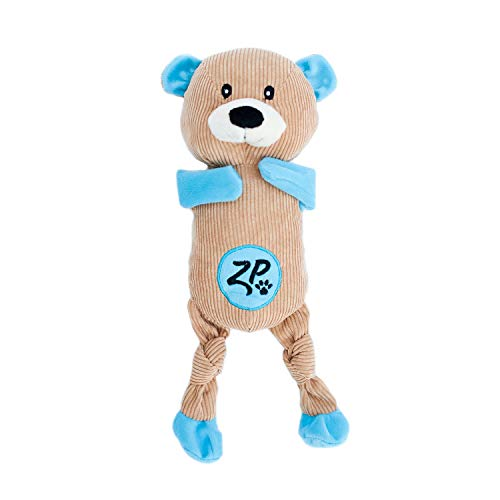 - ZippyPaws - Corduroy Cuddlerz Squeaky Dog Toy with Soft Stuffing (Bear)