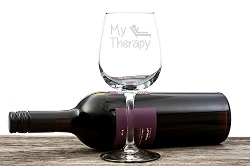 my therapy funny wine glass 13 oz best christmas gifts for women unique
