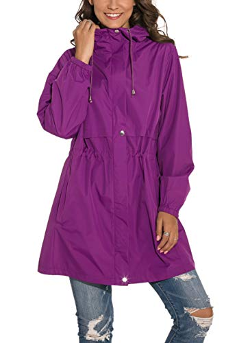 ladies hooded raincoat - 3