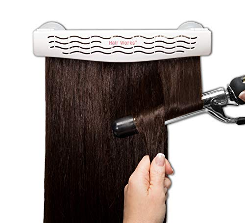(Hair Works 4-in-1 Hair Extension Style Caddy - Lightweight, Waterproof and Portable, This Hair Extension Holder Is Designed To Securely Hold Your Extensions While You Wash, Style, Pack and Store Them)