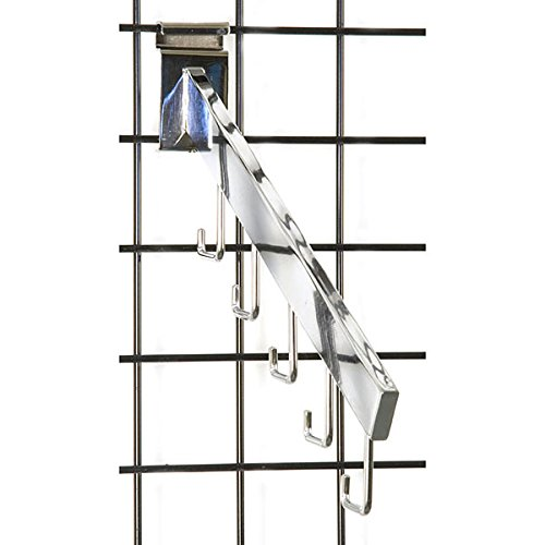 Count of 25 New Retails Chrome 5 Hook Gridwall Waterfall 16'' long