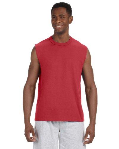 Jerzees 49 Adult Hidensi-T Sleeveless T-Shirt - True Red44; Small - Jerzees Adult Sleeveless T-shirt