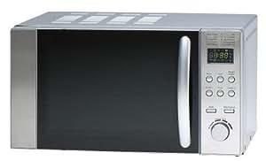 Sanyo - Microondas Emg2298V, 20L, 800W, Congrill Simultaneo 1000W. Control Semi Digital ,Auto Descongelacion,Display Led, Silver/Espejo/Negro (No Inox)