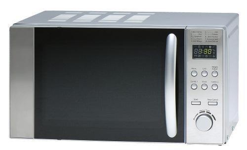 Sanyo - Microondas Emg2298V, 20L, 800W, Congrill Simultaneo 1000W. Control Semi Digital,Auto Descongelacion,Display Led, Silver/Espejo/Negro (No INOX)