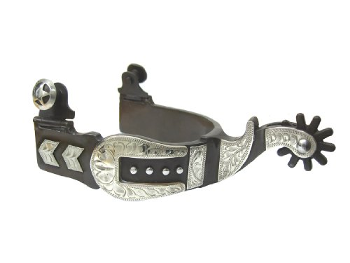 Silver Engraved Show Spurs (Silver Buckle Western Show Spurs Mens)