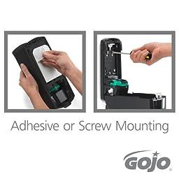 GOJO 8712-D1 2 Piece ADX-7 Antibacterial Foam Refill Dispenser Kit, Plum Fragrance