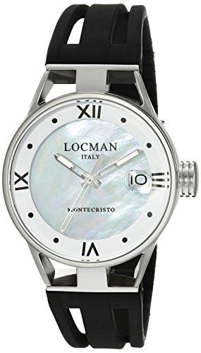 Locman Italy Women's 0521V02-00MA00SK Montecristo Lady Analog Display Quartz Black Watch by Locman Italy