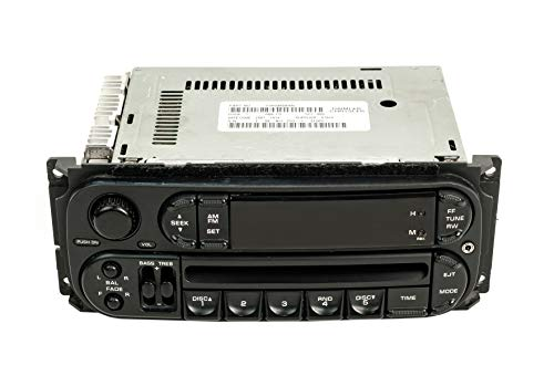 2002 Saturn Radio - 1 Factory Radio AM FM CD Upgraded With Auxiliary Input Compatible With 2002-2005 Dodge Neon RBK Slider Ver P05064354