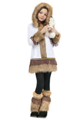 Fun World Eskimo Costume, Large 12 - 14, White]()
