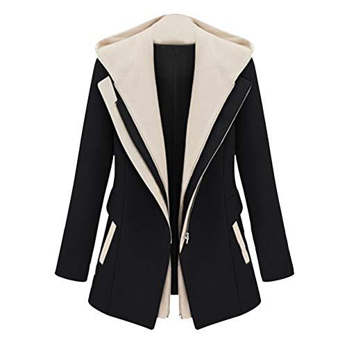 (Sannysis Ski Outerwear, Women Work Suit Long Sleeve Office Removable Hooded Coat Jacket Blazer)