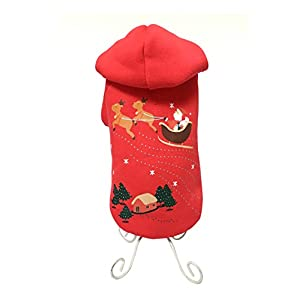Freerun Soft Warm Cotton Pet Dog Hoodie Coat Puppy Costume Clothes - Golden, S