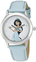 Disney The Princess & The Frog Kids' W002379 Jasmin Analog Display Analog Quartz Blue Watch
