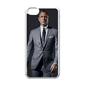 Daniel Craig_004 TPU Case Cover for iphone 5c Cell Phone Case White